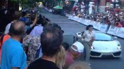 WATCH: Lamborghini Clips Woman At Vancouver Bike
