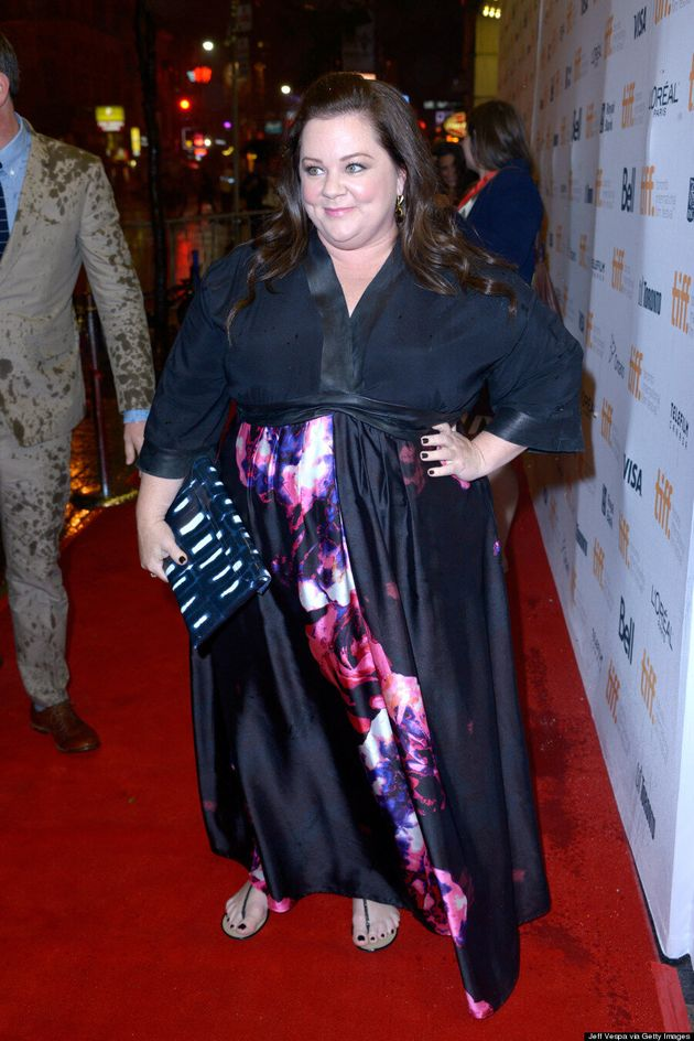 Melissa McCarthy Caught In TIFF 2014 Thunderstorm, Looks