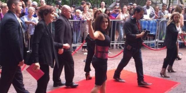 Salma Hayek TIFF 2014: Actress Turns Up The Heat In Slinky