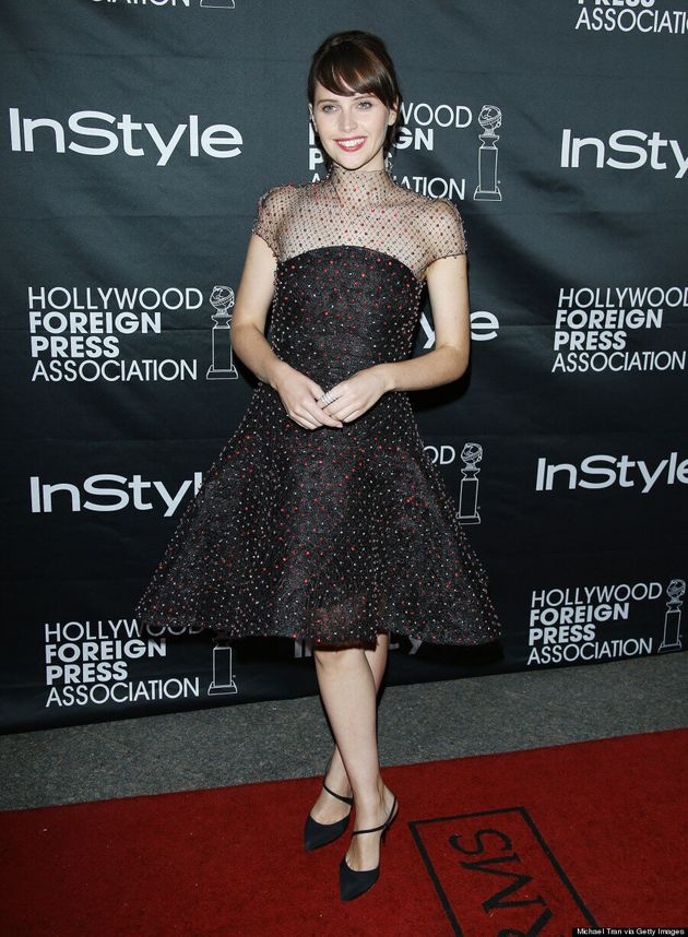 Felicity Jones' TIFF 2014 Dress Brings Elegant Glamour To