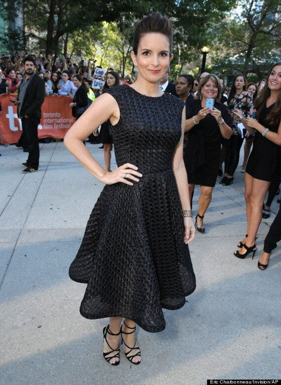 Tina Fey TIFF 2014: Actress Keeps It Classic In Sparkling Black
