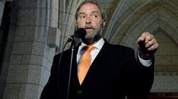 Mulcair Throws Dig At Trudeau, Predicts 3-Way