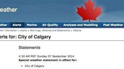 Fake Weather Warning Captures Calgary's All-Too-Real