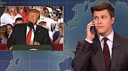 Colin Jost Calls The 'Kook Squad' Watching Trump's Florida Speech On 'Weekend