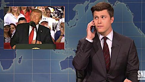 Colin Jost Calls The 'Kook Squad' Watching Trump's Florida Speech On 'Weekend Update'