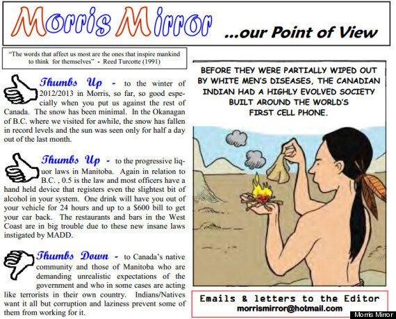 Morris Mirror's Racist Cartoon And Editorial Prompt