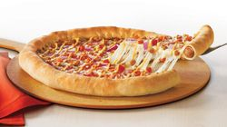 Test Drive: Pizza Hut's Hot Dog Stuffed Crust Pizza Is Now In