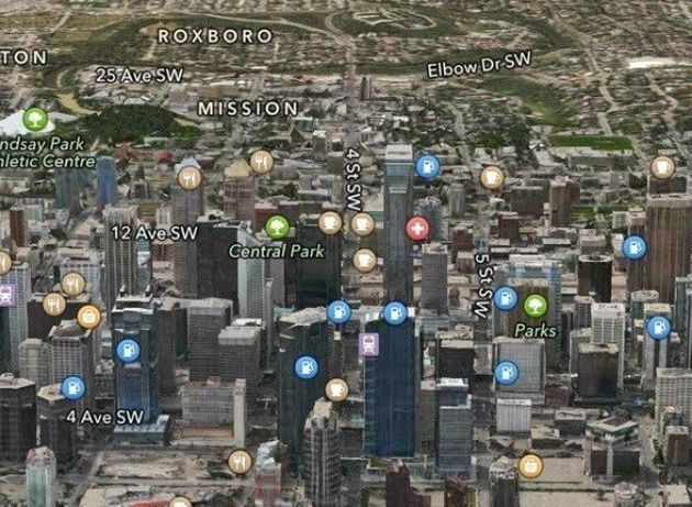 Apple Maps Calgary: Downtown Buildings Labelled As Gas Stations