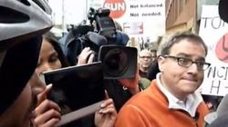 WATCH: Protesters Confront Ezra Levant Over Alleged