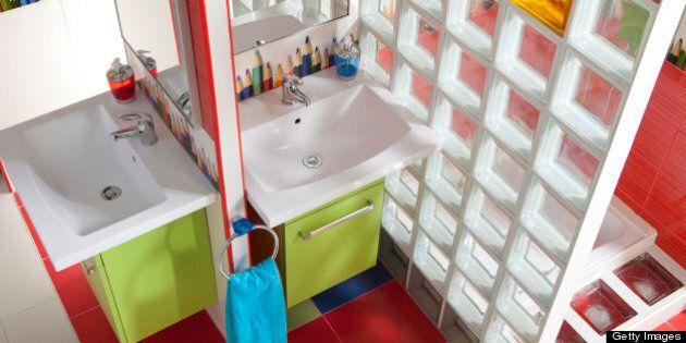 Multicolored bathroom