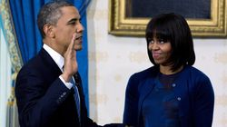 Michelle Obama Shows Off New Look At Swearing In