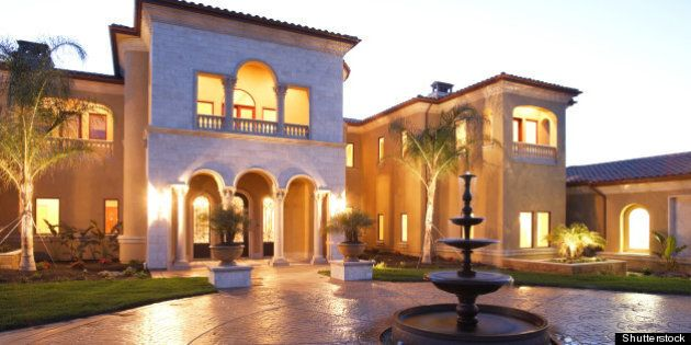 a huge new luxury home at