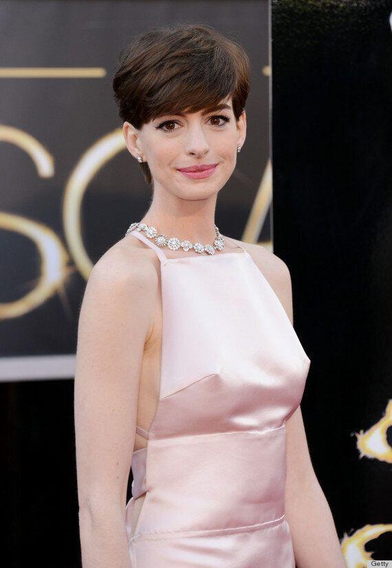 Anne Hathaway's Nipples Make An Oscars