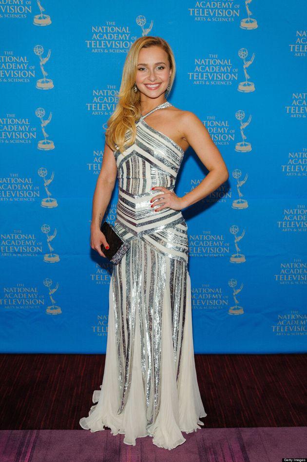 What Boob Job? Hayden Panettiere Covers Up In Halterneck Dress