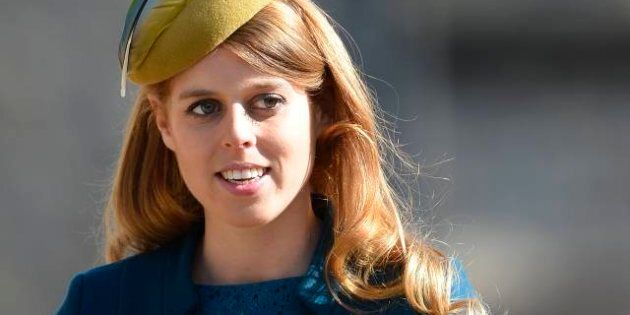 WINDSOR, UNITED KINGDOM - MARCH 31: Princess Beatrice arrives for the Easter service at St George's Chapel...