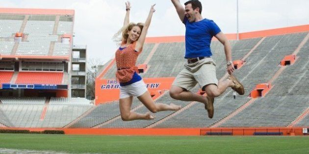 Real Engagement Photos: A Sporty Stadium
