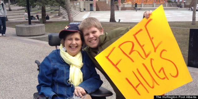 Calgary's Pay It Forward Day Included Free Hugs And