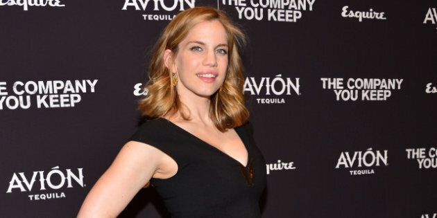 NEW YORK, NY - APRIL 01: Actress Anna Chlumsky attends 'The Company You Keep' New York Premiere at The...