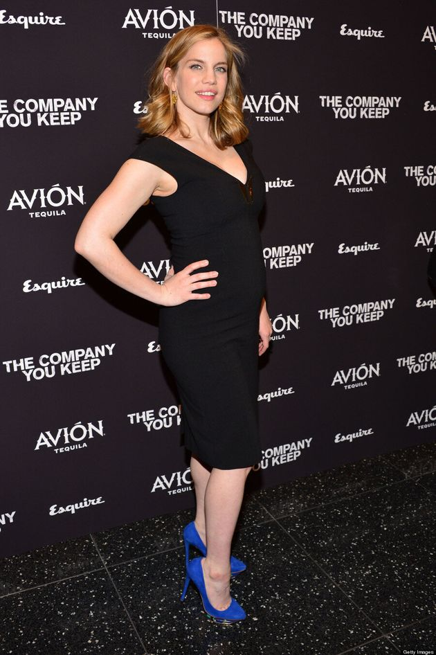 Anna Chlumsky Shows Off Baby Bump: 'My Girl' Actress Wears Tight Dress At 'The Company You Keep' Premiere