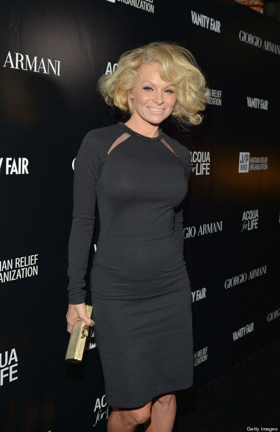 Pamela Anderson Surprises With Short Bob Hairdo At Armani Event