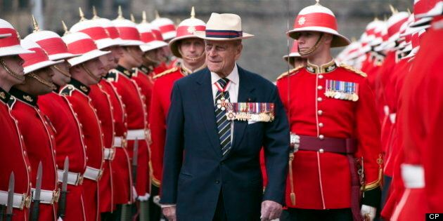 Prince Philip Honours Canadian Military Battalion With Regimental
