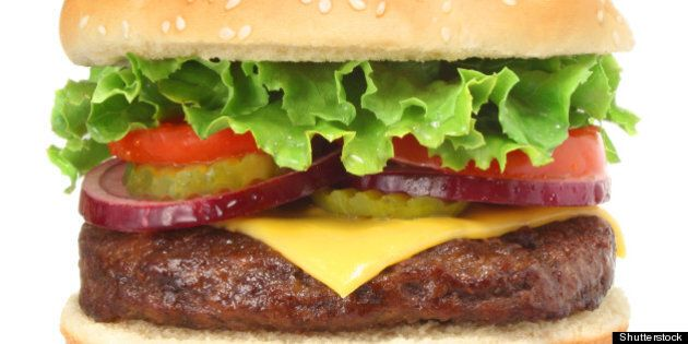cheeseburger hamburger isolated