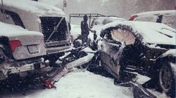 Massive Pileup Closes Highway East Of