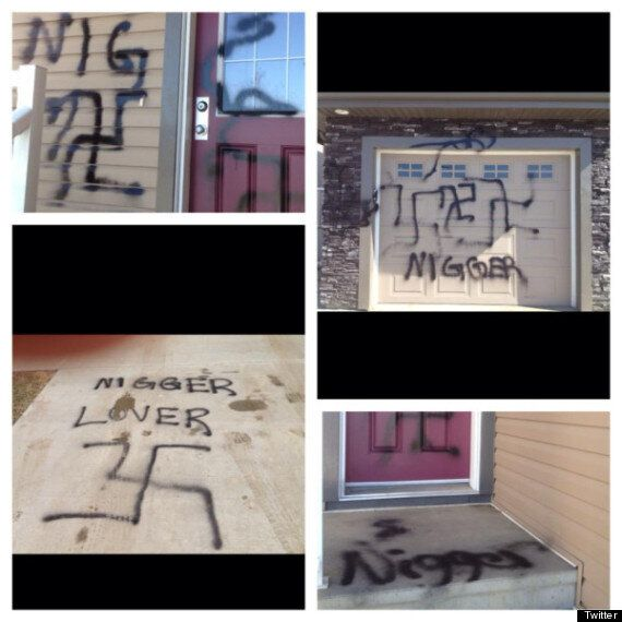 Racist Graffiti In Edmonton: House Covered In Swastikas, Racial Slurs As Family Returns