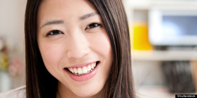 beautiful asian woman smiling