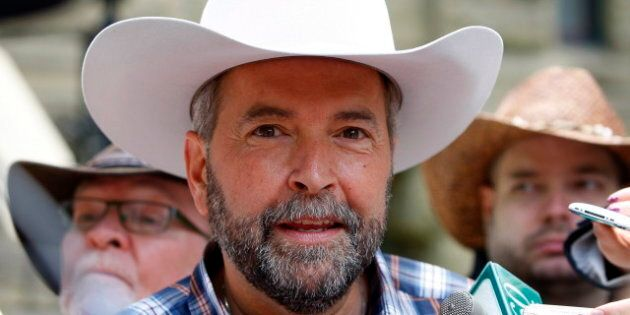 Thomas Mulcair's Calgary Stampede Visit: NDP Leader Calls For Death Of Enbridge