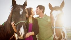 Gorgeous Engagement Shoot At Ranch Includes Horses And