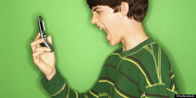 portrait of caucasian teen boy...
