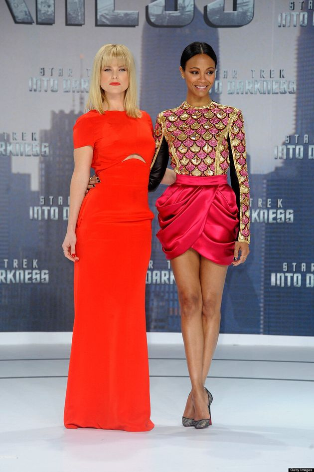 Zoe Saldana Steals Show From Alice Eve At 'Star Trek Into Darkness' Berlin Premiere (VIDEO,