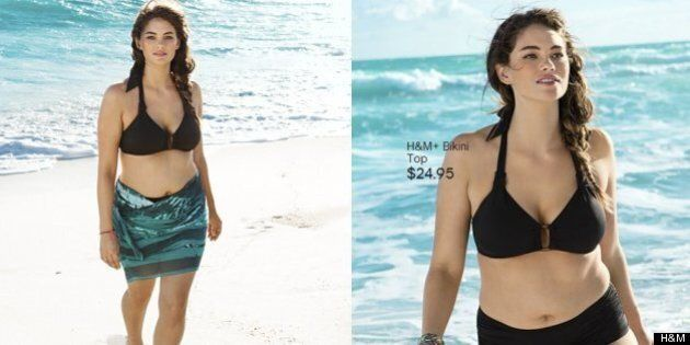 H&M Uses Plus-Size Model For Swimwear Campaign
