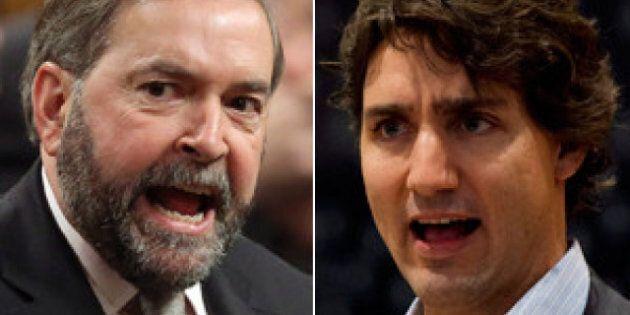 Trudeau Knocks Mulcair For 50-Plus-1 Stance On