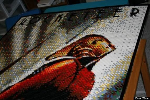 Dave Ware's Lego Mosaics, Portraits Are Gorgeous Works Of