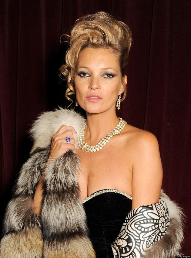 Kate Moss Embraces The '80s At Birthday Bash