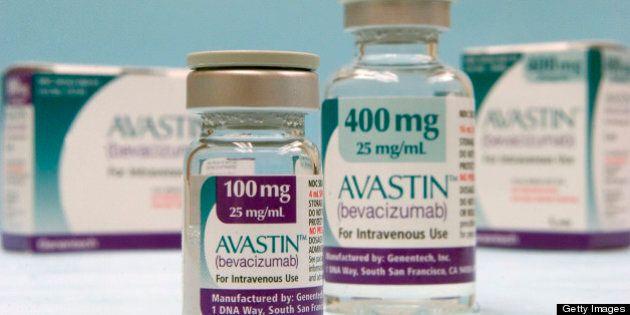 UNITED STATES - FEBRUARY 01: Roche's colon-cancer drug Avastin featured in a Cambridge, Massachusetts...