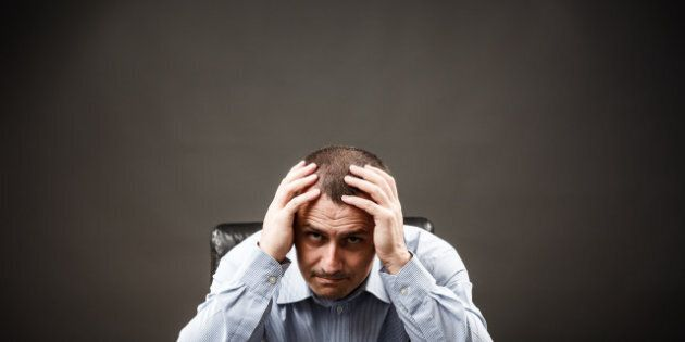 depressed businessman or
