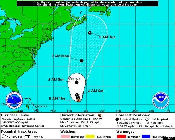 Hurricane Leslie 2012 Path: Nova Scotia, New Brunswick, Newfoundland Keep A Lookout For Potentially Huge...