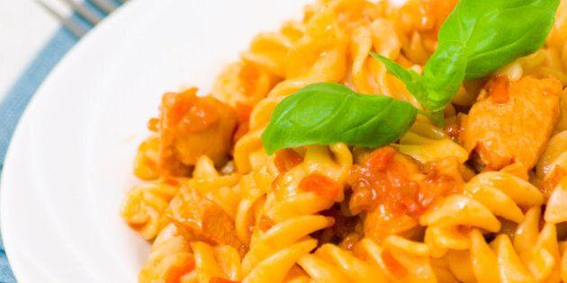 fusilli pasta with