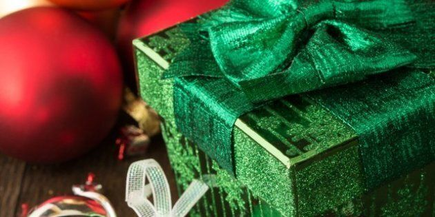 christmas gifts with silver...