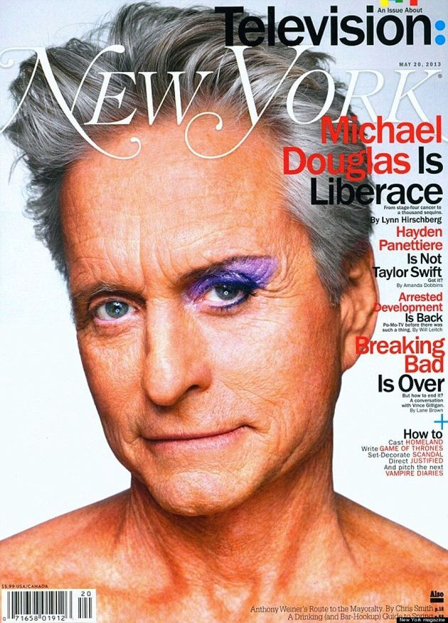 Michael Douglas As Liberace: Actor Wears Makeup On New York Magazine Cover