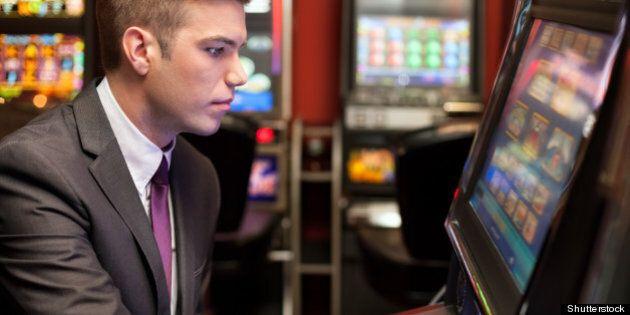 young handsome men gambling
