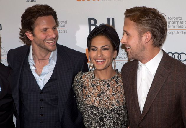 TIFF 2012: Ryan Gosling Walks 'The Place Beyond The Pines' Red Carpet With Co-Stars Eva Mendes, Bradley