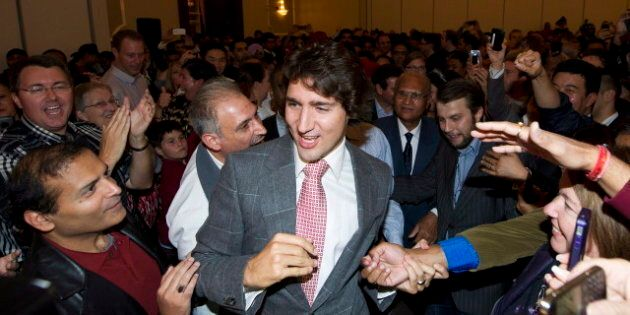 Justin Trudeau Attracts Liberal Supporters In