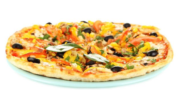 tasty pizza with vegetables