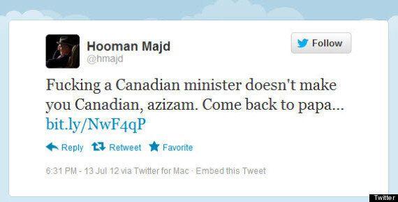 Nazanin Afshin-Jam Target Of Offensive Tweet, Hooman Majd Blames