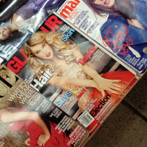 Dear Glamour: Taylor Swift Looks More Alien Than