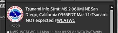 Tsunami Warning Text Messages Fail To Provide Any